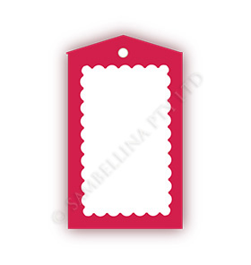 Scallop Red Gift Tags