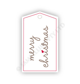 White Christmas Gift Tags