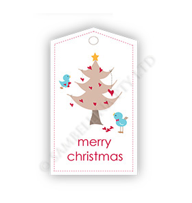 Christmas Birds Love Gift Tags