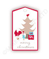 Christmas Birds Tree Gift Tags