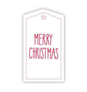 Merry Christmas White Gift Tags