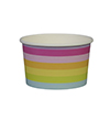 Rainbow Stripe Ice Cream Cups