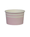 Soft Pink Stripe Ice Cream Cups