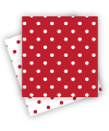 Reversible Red Polkadot Napkins