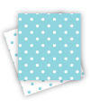 Reversible Blue Polkadot Napkins
