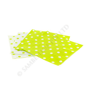 Reversible Lime Polkadot Napkins