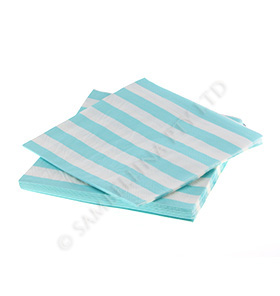 Blue Candy Stripe Napkins