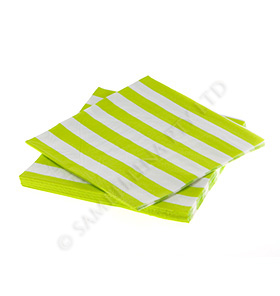 Lime  Candy Stripe Napkins