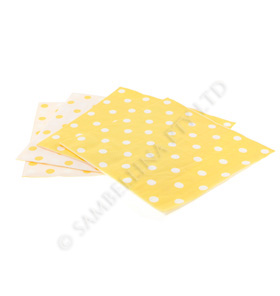Reversible Yellow Polkadot Napkins