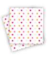 Summer Peach Polkadot Napkins