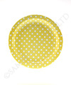 Polkadot Yellow  Round