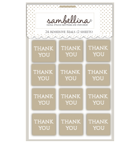 Square Thank You Kraft with White Sticker