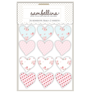 Sweet Floral Heart Stickers