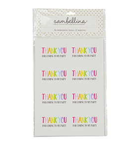 Rainbow Thank You Rectangle Stickers