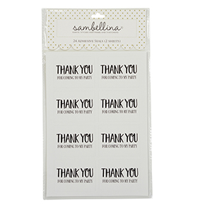 Black Party Thank You Rectangle Stickers