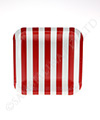 Candy Stripe Red Square Plates
