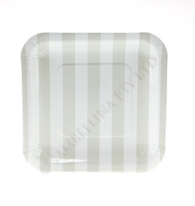 Candy Stripe Champagne Sqaure Plate