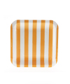 Candy Stripe Orange Square Plate