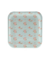 Blue Floral Square Plate