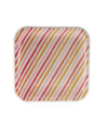 Summer Peach Stripe Square Plate