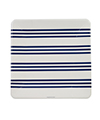 Navy French Stripe Large Square Plates
