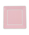 Soft Pink With White Border Large Square Plates